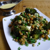 Roasted Broccoli and Garbanzo Bean Salad