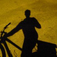 Shadow selfie on bike