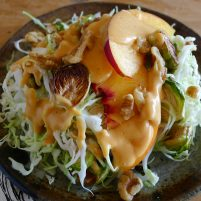 peachy cabbage salad