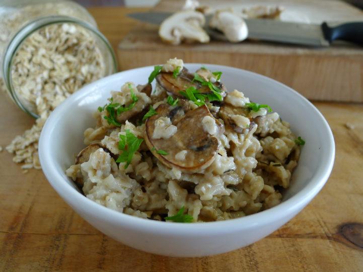 mushroom thyme oatmeal