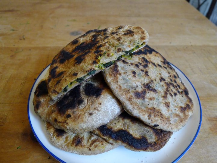 pile of paratha