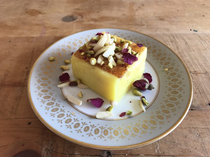 saffron rice pudding