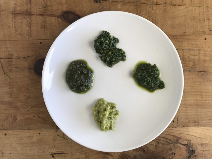 four kinds of pesto