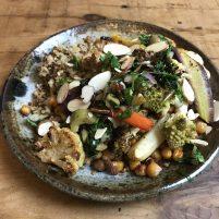 vegan veggies and quinoa