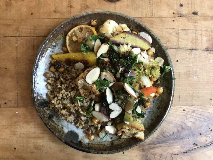 veggies with quinoa vegan